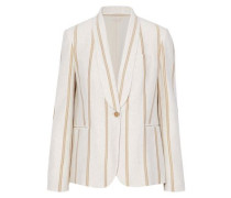Metallic striped cotton-jersey blazer