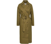 Belted Cotton Trench Coat Army Green