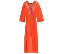 Embellished crepe maxi dress