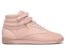 Perforated Leather High-top Sneakers Pastel Pink
