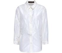 Cotton-blend Poplin Shirt Off-white Size 12