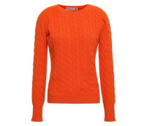 Cable-knit Cashmere Sweater Orange