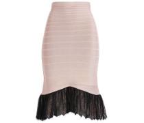 Lace-trimmed Bandage Skirt Blush