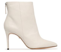 Leather Ankle Boots Ecru