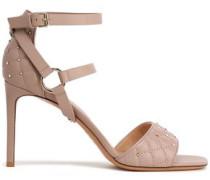 Rockstud Spike Leather Sandals Pastel Pink