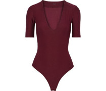 Ludlow Stretch-jersey Thong Bodysuit Merlot