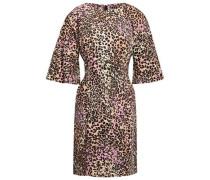 Leopard-print Stretch-cotton Mini Dress Animal Print