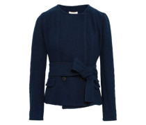 West Double-breasted Cotton-blend Jacket Navy Size 0
