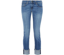Faded low-rise skinny jeans