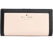 Two-tone leather continental wallet