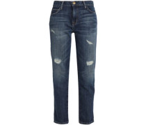 The Fling cropped distressed  boyfriend jeans