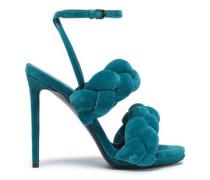 Braided velvet sandals