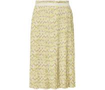 Knee Length Skirt Chartreuse