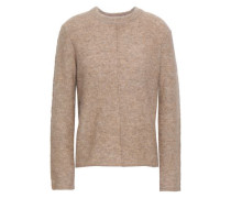 Woman Mélange Knitted Sweater Sand