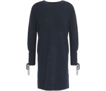 Lace-up knitted mini dress
