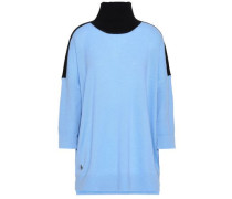 Cashmere And Wool-blend Turtleneck Sweater Sky Blue