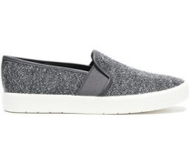 Tweed Slip-on Sneakers Dark Gray