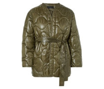 Quilted Shell Down Jacket Army Green