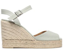 Baudrey canvas platform wedge espadrilles