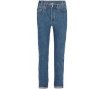+ Levi's asymmetric high-rise slim-leg jeans