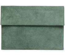 Suede Pouch Grey Green Size --