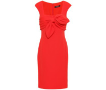 Knotted Stretch-ponte Dress Red Size 0