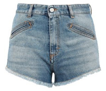Frayed Denim Shorts Light Denim  5