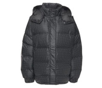 Woman Foxworth Quilted Printed Shell Hooded Down Jacket Black