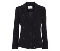 Inez embellished crepe blazer