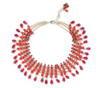 Curry Gold-tone Beaded Necklace Claret Size --