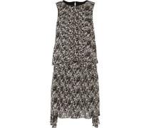 Lindsey asymmetric layered printed chiffon mini dress