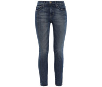 Cropped High-rise Skinny Jeans Mid Denim  3