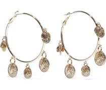 22-karat Gold-plated Hoop Earrings Gold Size --