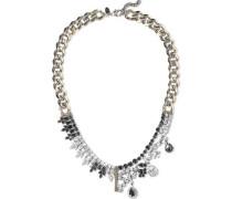 Burnished Gold-tone Crystal Necklace Gold Size --