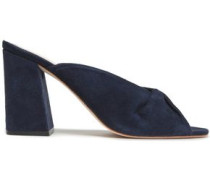 Laurel Suede Mules Navy