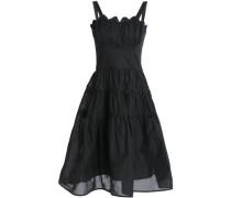 Lola ruched cotton-gauze midi dress