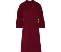 Pleated silk crepe de chine dress
