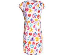 Printed satin-jersey mini dress