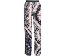 Printed wide-leg pants