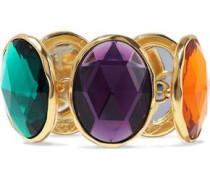 24-karat gold-plated crystal bracelet