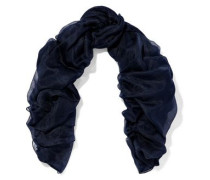 Cashmere And Silk-blend Gauze Scarf Midnight Blue Size --