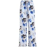 Winszlee floral-print silk wide-leg pants