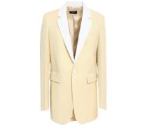 Wool-piqué Blazer Pastel Yellow