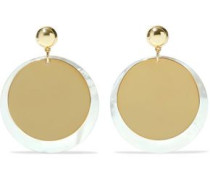 Gold-plated mother-of-pearl earrings