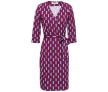 New Julian Printed Cotton And Silk-blend Wrap Dress Burgundy Size 0