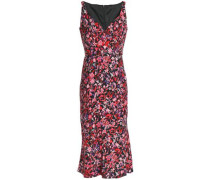 Yirma floral-print ruched woven midi dress
