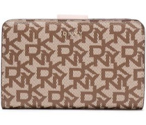 Printed Faux Textured-leather Wallet Light Brown Size --