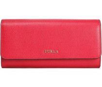 Babylon Textured-leather Continental Wallet Red Size --