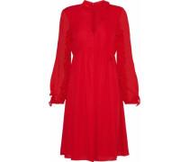 Ruffle-trimmed chiffon dress