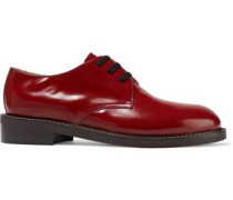 Glossed-leather Brogues Claret